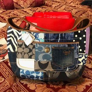 LIMITED ADDITION coach jean handbag. NEVER USED